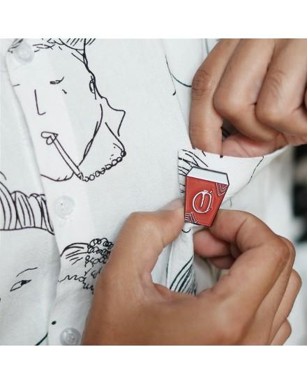 Anomali Coffee Pin (Red)