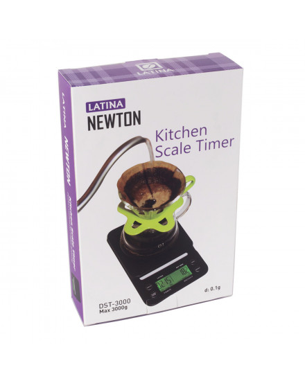 latina Newton Timer Drip Scale 3.0kg/0.1g