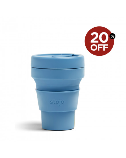 Stojo Pocket Cup 12 Oz-Steel